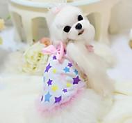 Personality Sweety Stars Printing Pet Dress