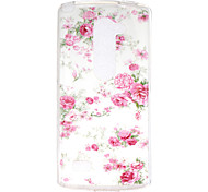 Rose  Pattern TPU Phone Case for LG Leon /LG C40 H340N