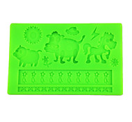 New Animal Fondant Cake Mold Silicone Lace Embossing Mold for DIY