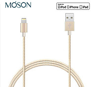 MFI 8pin Twist Woven Nylon Cable USB Data Sync Charging Cable For iPhone5 6 6 Plus iPad Transmission Charge Line 100cm