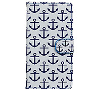 Anchor Pattern PU Leather Full Body Case with Stand for Wiko Fever