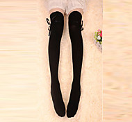 Socks/Stockings Classic/Traditional Lolita Lace-up Black Lolita Accessories Stockings Bowknot For Women Cotton