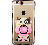 Glow in the Dark Hippopotamus Pattern with Hand Ring and Strap PC Back Case for iPhone 6Plus/6SPlus
