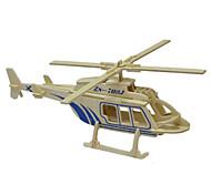 3d casse-tête solide modèle de puzzle en bois jouets en bois hélicoptère