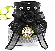 Women's Black Lace Bracelet Quartz Watch Cool Watches Unique Watches