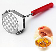 Stainless Steel Potato Masher With Plastic Grip Cooking Kitchen Gadget