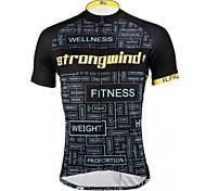 PaladinSport Men 's Short Sleeve Cycling Jersey DX619 wind 100% Polyester