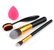 escova de maquiagem + escova fundação + escova da sombra + sopro pequeno fundação
