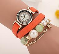 Xu™ Ladies' Fashion The Chain Pearl Diamonds Bracelet Quartz Watch Cool Watches Unique Watches