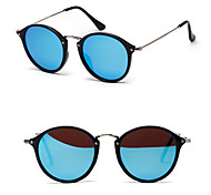 Polarized Round Fashion Mirrored Sunglasses