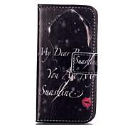 Für iPhone 5 Hülle Kreditkartenfächer Geldbeutel mit Halterung Flipbare Hülle Hülle Handyhülle für das ganze Handy Hülle Wort / Satz Hart