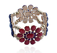 Fashion Gem Four Flowers Alloy Bracelet