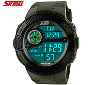 Men's Sport Watch Digital Watch LCD Calendar Chronograph Water Resistant / Water Proof Dual Time Zones Sport Watch Digital Band