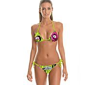 Digital Printing In Europe And America, Ms. Green Zombie Bikini Beach Split two-piece Swimsuit Fashion Sexy Bikini