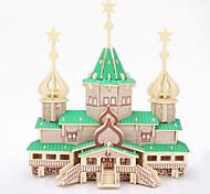 3d puzzles de jouets éducatifs en bois en trois dimensions de puzzle enfants russe noël grand modèle de bâtiment en bois