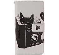 Cat Reading Painted PU Phone Case for Galaxy A3/A5/A7/A310/A510/A710