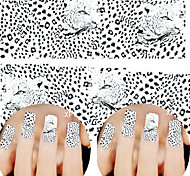 1 sheet Water Transfer Stickers Nail Art Decals Decorations Full Cover Wraps Sexy Leopard Charm Nail Art