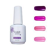 ILuve Gel Nail Polish Set - Pack Of 4 - Long Lasting 3 Weeks Soak Off UV Led Gel Varnish – For Nail Art #4042