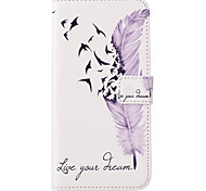 Для Кейс для  Samsung Galaxy Бумажник для карт / Кошелек / со стендом / Флип Кейс для Чехол Кейс для Перо Искусственная кожа SamsungJ5