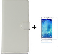 PU Leather Wallet Flip Case For Samsung Galaxy J1 J100H + Screen Protector