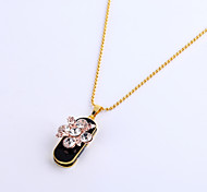 32GB Necklace Flower Jewelry USB 2.0 Rotatable Flash Memory Stick Drive U Disk ZP-10 Pink