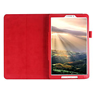 For Samsung Galaxy Case with Stand / Flip Case Full Body Case Solid Color PU Leather Samsung Tab E 9.6
