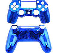 Replacement Controller Case for PS4 Controller PS4 Case Plating(Green/Blue)