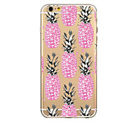 Bananas and Pineapples Pattern TPU Transparent Phone Case Back Cover Case for iPhone6/6S