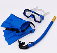 Snorkeling Packages Swim Mask Goggle Diving Fins Snorkel Set Diving / Snorkeling Swimming PVC Blue