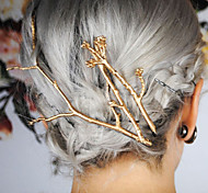 Women's Simple Metal Tree Branches Hair Clips Hairpin Hair Accessories 1pc