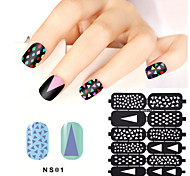 1sheet Hollow Nail Art Stamping Template Stickers Reusable Stamp Stencil Guide DIY Nail Decal Decoration Tools21#-36#