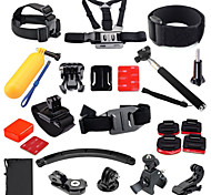 GoPro Accessories 27 in 1 Helmet Harness Chest Belt Mount Strap Monopod For GoPro Hero3+4 SJCAM Camera Accessories