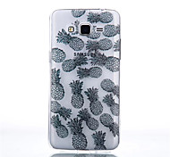Pineapple Pattern Black Printing Transparent TPU Material Phone Case for Samsung Galaxy G360/G530
