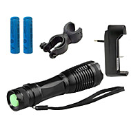 LS1782 ZK10 CREE XM-L T6 5 -Mode 4000 Lumens Focus Zooming Adjustable LED Flashlight Bike Bicycle Front Light Suit