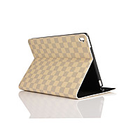 9.7 Inch Grid Pattern PU Leather Case with Stand for ipad pro 9.7(Assorted Colors)