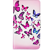 Butterfly Pattern Embossed PU Leather Case for Galaxy A5(2016)