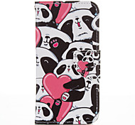 Heart Panda PU leather with Stand Case for Samsung G360