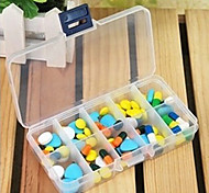 Multi-grid Transparent Kit Jewelry Storage Box Storage Box Finishing