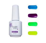 ILuve Gel Nail Polish Set - Pack Of 4 - Long Lasting 3 Weeks Soak Off UV Led Gel Varnish – For Nail Art #4037