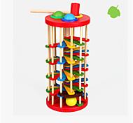 colore in legno per bambini bussare palla scaletta caduta del bambino di colore cognitivo 2-3-5 anni