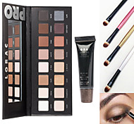 Lorac Pro Cosmetics Makeup Set(16 Colors Luminous Eyeshadow Eye Shadow Palette with Mirror+1 Primer Base+4 Brush)
