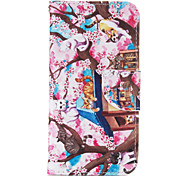 Plum Cat PU leather with Stand Case for Samsung G360