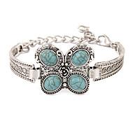 Bohemia Folk Style Retro Silver Turquoise Bracelet