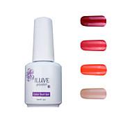 ILuve Gel Nail Polish Set - Pack Of 4 - Long Lasting 3 Weeks Soak Off UV Led Gel Varnish – For Nail Art #4011
