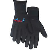 Diving Gloves Full-finger Gloves Cycling/Bike Keep Warm Wearproof Neoprene Unisex Black Blue M