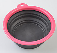 Stain Resistant Practical Foldable Silica Pet Bowl