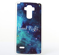 Good Night Pattern TPU+IMD Soft Case for LG LS770