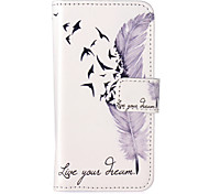 Feather Pattern Embossed PU Leather Case for iPod Touch5
