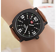 Men's Business Simple Marble Mirror Quartz Leather Watch(Assorted Colors) Wrist Watch Cool Watch Unique Watch