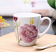 500 Ml High-Capacity Hand-Painted Ceramic Cup Mark Cup Tableware Production Gift Processing Customization